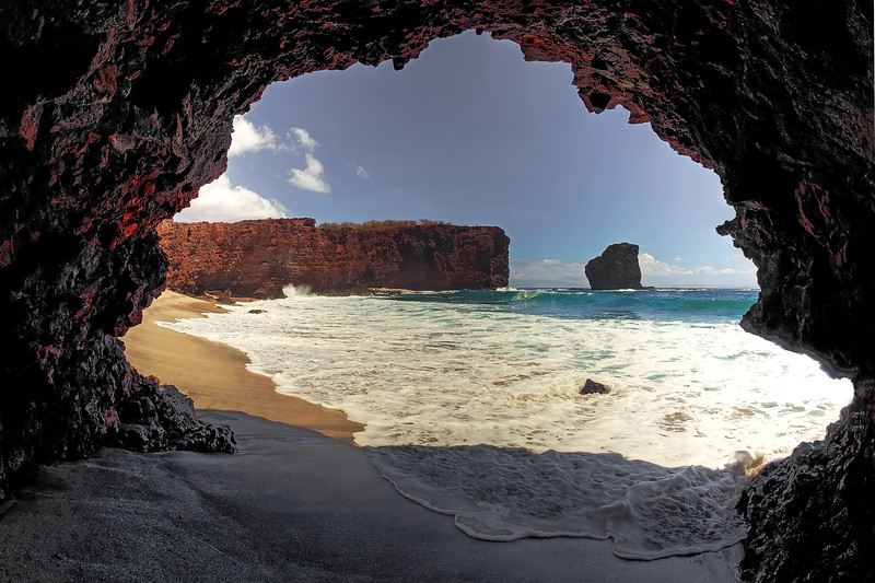 Cave at Pu'upehe - Island of Lana'i, Hawaii