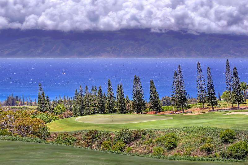 Hole #17.   Kapalua Plantation Course - Maui, Hawaii