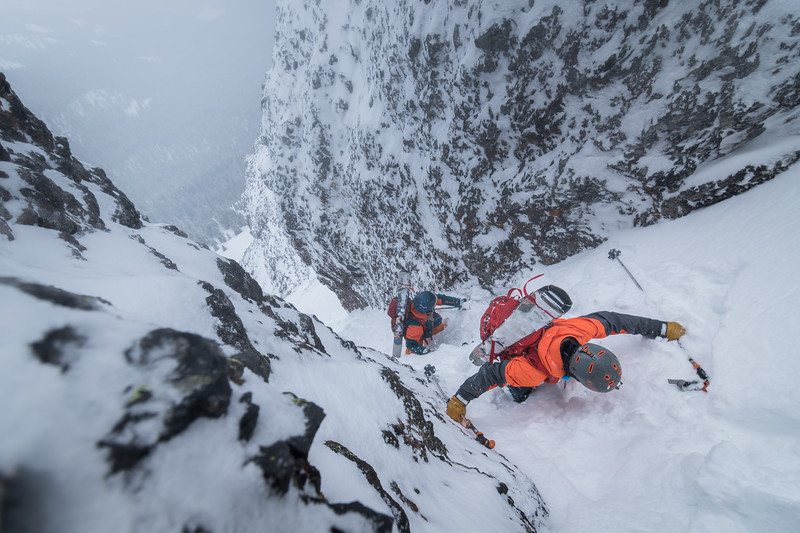 Skier: Bryce Gordon and Jack Stewart. Location: Hyalite, Montana