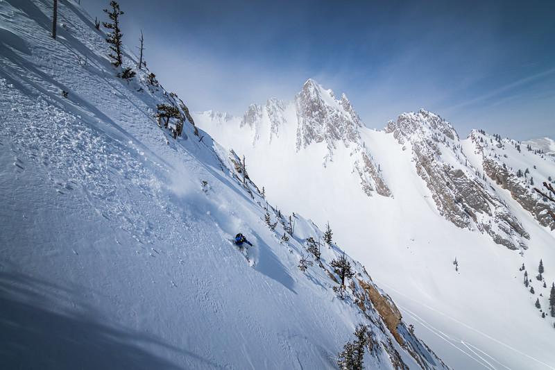 Skier: Sam Schwartz. Location: Northern Bridgers, Montana.