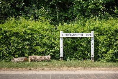 Kidderminster Lock, Canal Signage, Worcestershire
