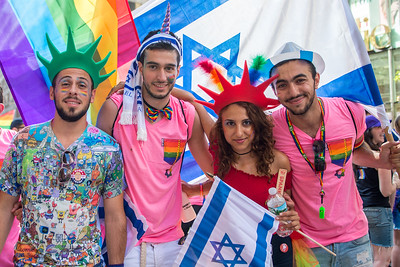 Israeli delegation at the Gay Pride Parade in New York City, June 25 2017.