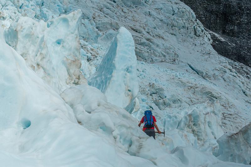 Hiking on the Franz Josef Glacier,  New Zealand