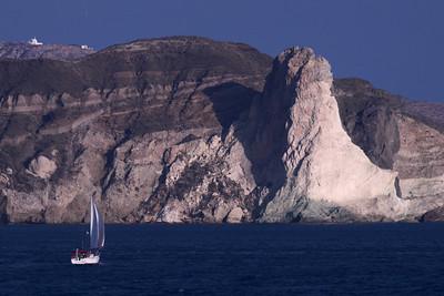 Entering Harbor, Santorini, Greece