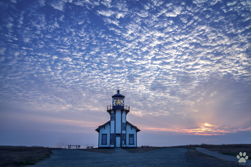 Point Cabrillo Light house at Sunset