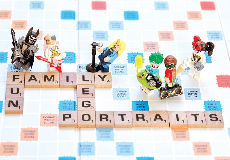 Fun Family Lego Portraits.
