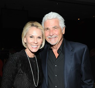 (L-R) Cheryll Saban and actor James Brolin