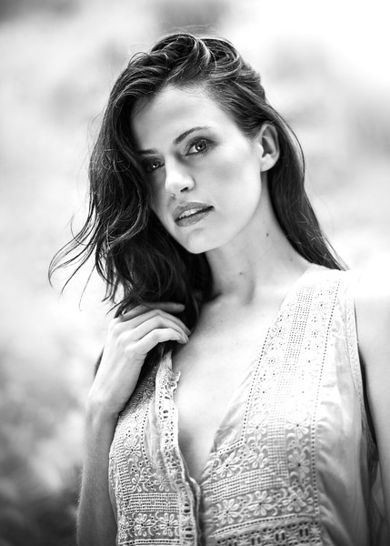 Model in Black and White