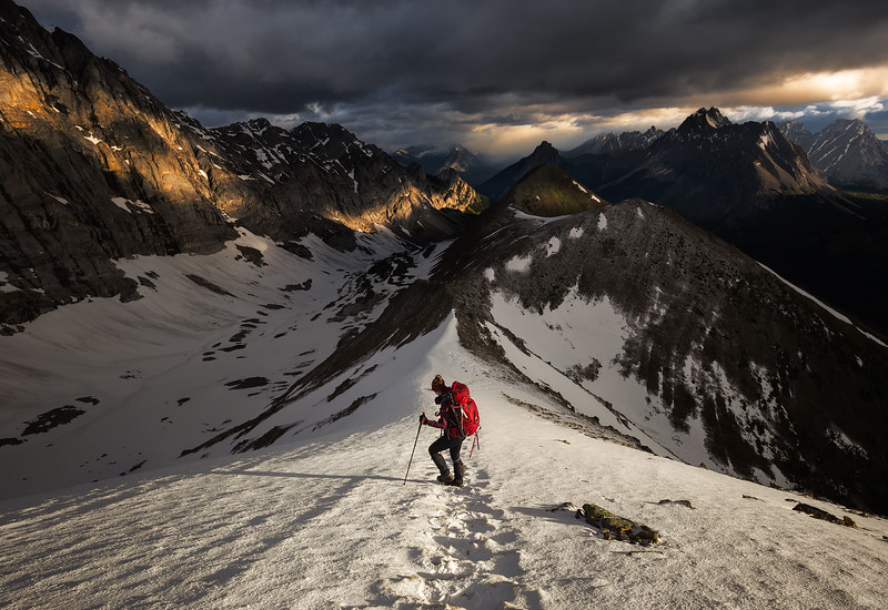 Pocaterra Ridge Snowdrift