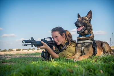 IDF Best Photo of 2014-  IDF soldier and her dog train in southern Israel.