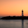 Santa Cruz - Walton Lighthouse during the golden hour