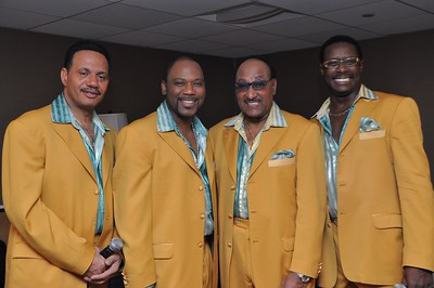 The Four Tops pose for a photo before going on stage at a fundraising event in Los Angeles, CA. 2010