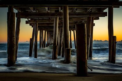 adillenseger nags head fishing pier sunrise
