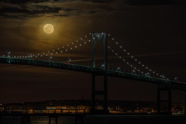 Full Moon over the Newport Pell Bridge