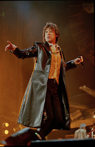 Mick Jagger of the Rolling Stones in concert.