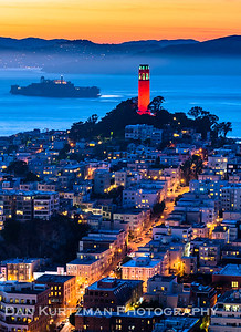 Coit Tower Aglow at Twilight