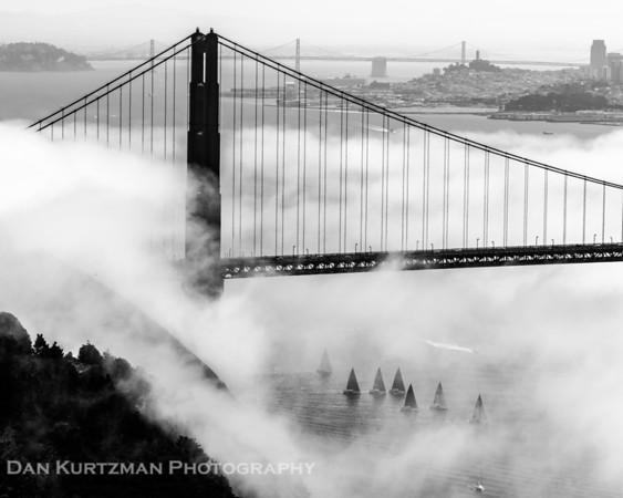Golden Gate Bridge and Sailboats 2