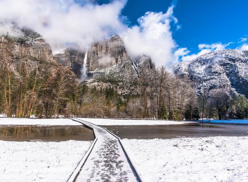 Yosemite Falls on a Winter Morning
