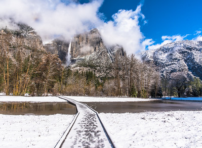 Yosemite Falls on a Winter Morning