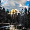 Last Light on Half Dome