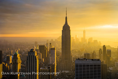 Golden NYC Sunset from the Top of the Rock