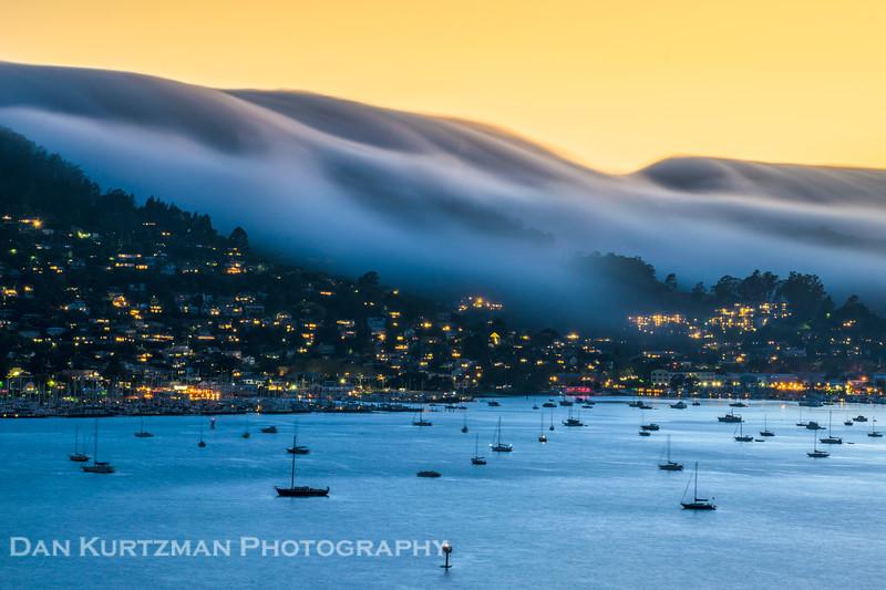 Fog Rolling Over Sausalito, California