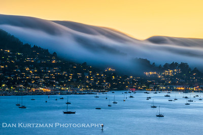 Fog Rolling Over Sausalito, California