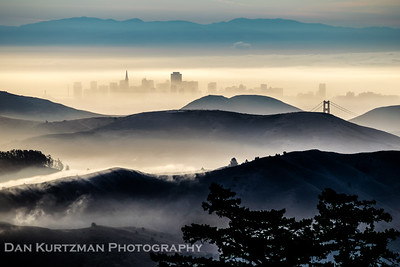 Misty Sunrise on Mt. Tam
