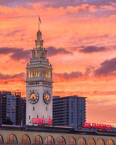 San Francisco Ferry Building Sunset
