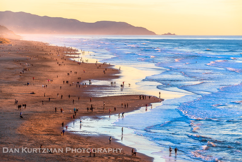 Golden Hour at Ocean Beach, San Francisco