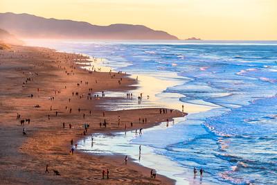 Golden Hour at Ocean Beach, San Francisco