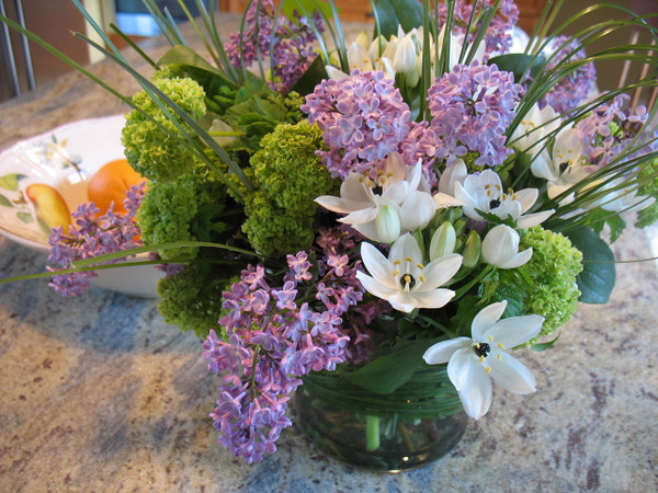 Lilacs from my lovely friend.