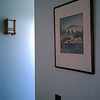 The hallway, showing one of the Cherry Tree Design sconces.