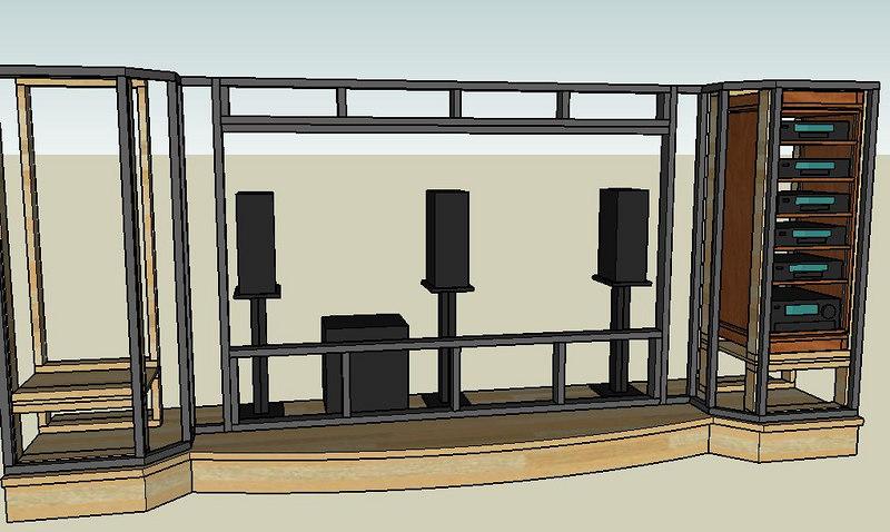 Emejing Home Theater Screen Wall Design Photos - Interior Design ...