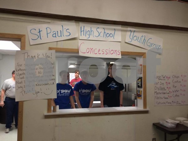 St. Paul's high school Youth Group working at the Concessions on Saturday.
