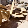 02/24/17: The Buckskin Flagstone for the benches is delivered and staged. Each slab of the flagstone is very heavy.