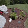 Another view of the perennial garden area on the north side of the property.