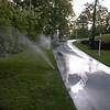 We installed the sprinkler system in April, 2002.
