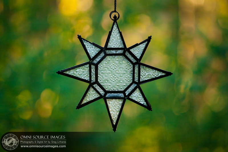 Hanging Window Star - Glass Candleholder