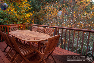 Redwood Deck Near Sunset in February