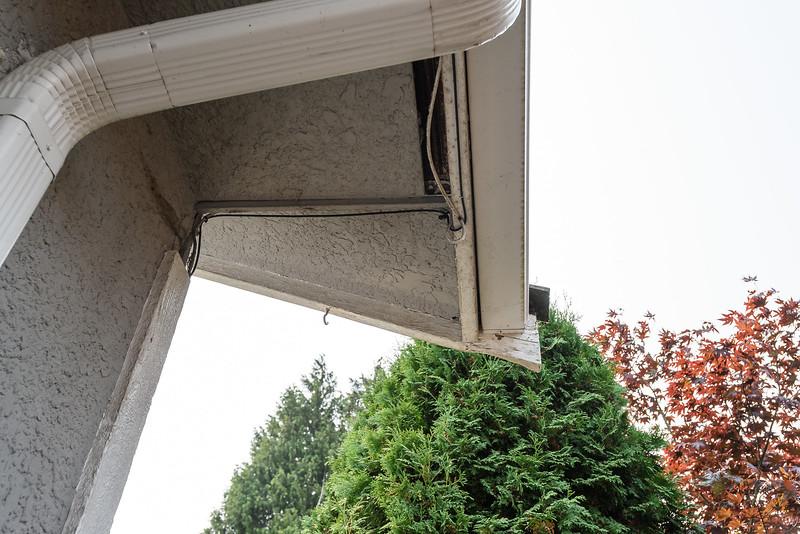 Detail - SW Corner soffit damage - needs filler