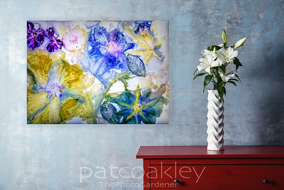 Yellow Hibiscus, Passion Flower, Geraniums Wall Decor