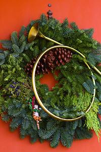 Our front door wreath.