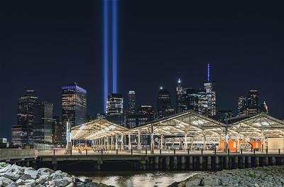 Tribute in Lights. Pier 3  -9/11/21