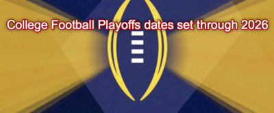 College Football Playoff dates through 2026