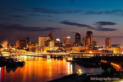 My favorite cityscape shot of St. Paul, MN just after sunset