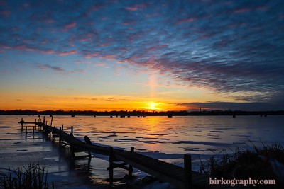 A beautiful January sunset on Medicine Lake, MN