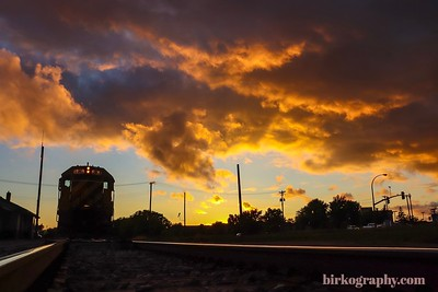 Sunset at the rail yard in Hopkins, MN