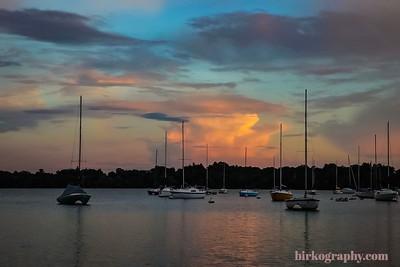 Sunset on Lake Harriet, MN
