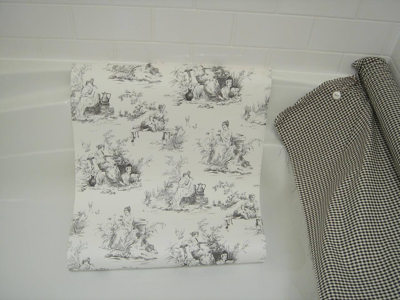 wallpaper & shower curtain fabric